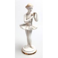 """Статуэтка""""Балерина с цветком"""" ДФЗ,Период СССР 1950-60 г."""